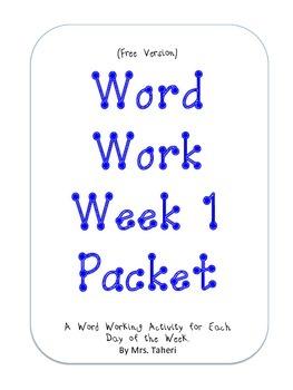 Word Work Short a Short i (free version)