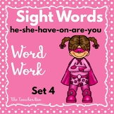Kindergarten- Special Education - Sight Words  Set 4 ( Sup