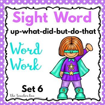 Kindergarten - Special Education - Sight Words Set 6 ( Super Hero Theme)