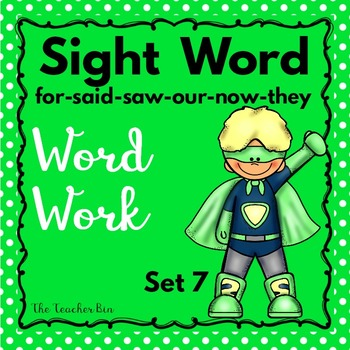 Kindergarten - Special Education - Sight Words Set 7 (Super Hero Theme)