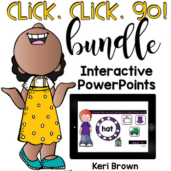 Word Work, Sight Words, Vowels: ELA Click Click Go - The Growing Bundle