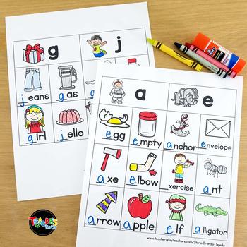 Word Work Sorts: Beginning Sounds