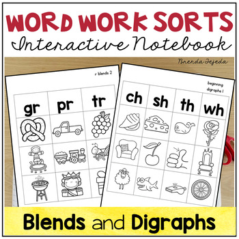 Word Work Sorts: Blends and Digraphs