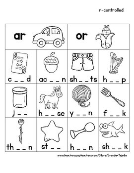 Word Work Sorts: R-Controlled Vowels