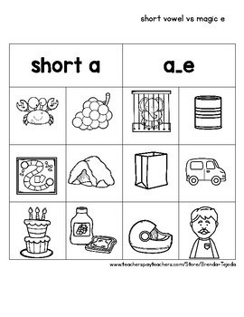 Word Work Sorts: Short and Long Vowels