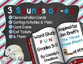 Sounds of Suffix -ed Word Work: Sorts, Game, and Printables