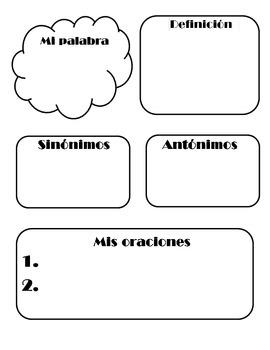 Word Work- Spanish