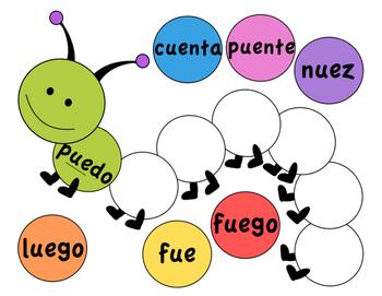 Word Work: Spanish Word Pattern Sort - Beginner