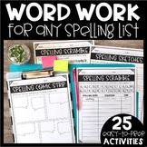 Word Work - Spelling