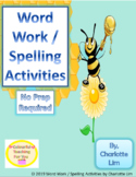 Word Work / Spelling Activities