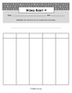 Word Work Spelling Activity - Blank Word Sorts (2, 3, 4, 5, and 6 Column)