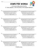 Word Work Spelling Activity - Computer Words