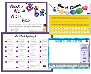 Word Work Spelling Grid - 22 Activities for the Smartboard!