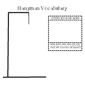 Word Work/ Spelling Hangman