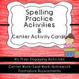 Word Work-Spelling Practice Activities. No-Prep Centers an