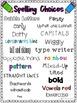 Word Work / Spelling Templates