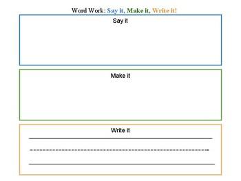 Word Work Spelling Word Centers!