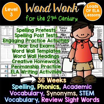 Word Work, Spelling for the 21st Century! Third Grade