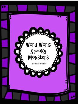 Word Work - Spooky Monsters