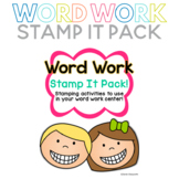 Word Work Stamp It Pack