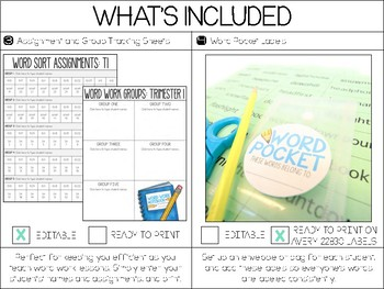 Word Work Starter Kit | Editable Organization Tools for Word Study