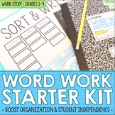 Editable Word Study or Word Work Activities & Organization