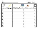 Word Work Station Activities