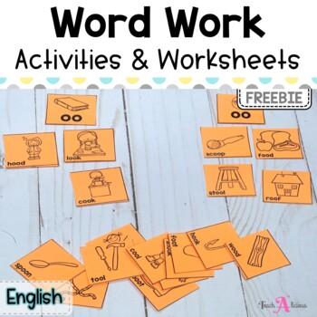 Word Work   OO spelling   Free Activity & Worksheets