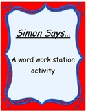 Word Work Station-Simon Says