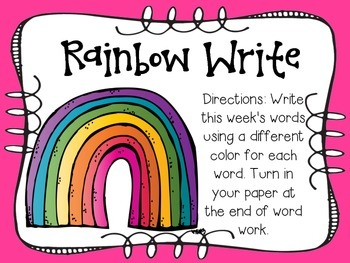 Word Work Stations