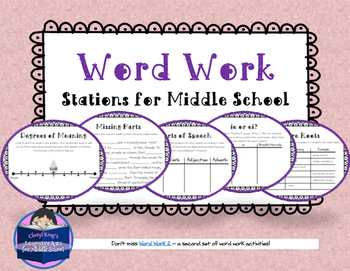 Word Work Stations for Middle School