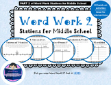 Word Work Stations for Middle School Part 2