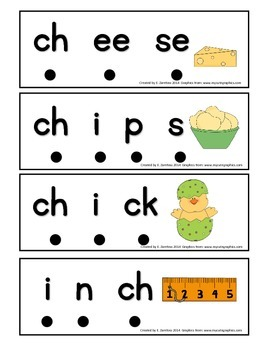 Word Work Stretchy Snake Digraphs