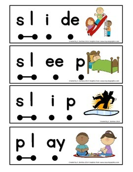 "Word Work Stretchy Snake ""L"" Blends"