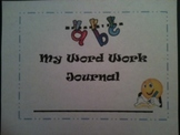 Word Work Student Journal