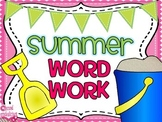 Summer Word Work Packet