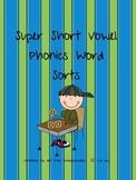 Word Work: Super Short Vowel Word Family Word Sorts!