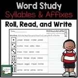 Syllables and Affixes Practice Game