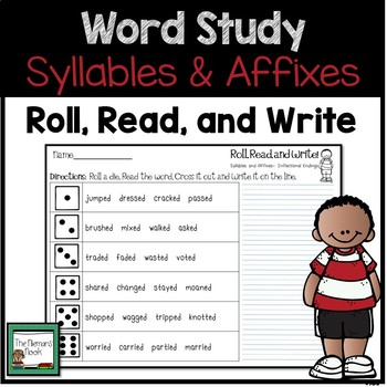 Word Work- Syllables and Affixes Review and Practice