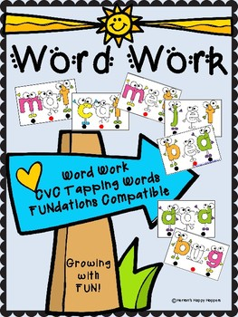 Word Work - Tap and Say CVC Word Cards