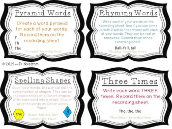Word Work Task Cards
