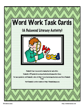 Word Work Task Cards for Balanced Literacy