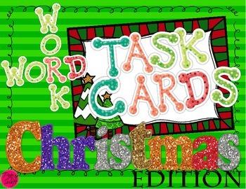 Word Work Task Cards ~ Christmas Edition