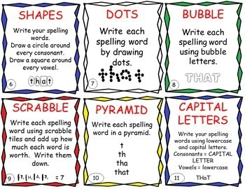 Word Work Task Cards - EDITABLE - great for Daily 5 and Centers
