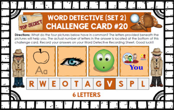 Word Work Task Cards (Set 2)