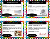 Jubilee's Junction - Word Work Task Cards, Set/16 *Hands-On*