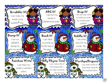 FREE Word Work Task Cards ~ Winter Edition