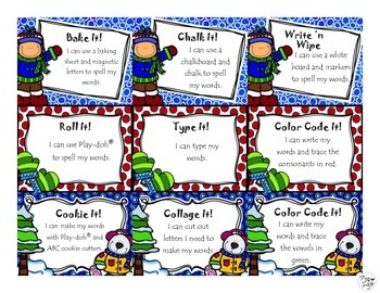 FREE Word Work Task Cards • Winter Edition