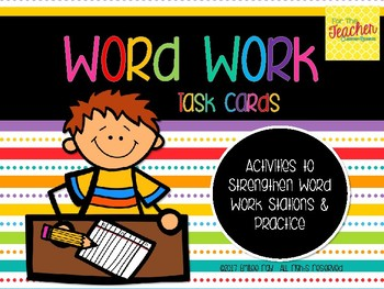 Word Work Task Cards for ANY List