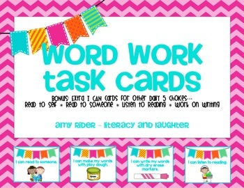 Word Work Task Cards for Daily 5 or Literacy Work Stations
